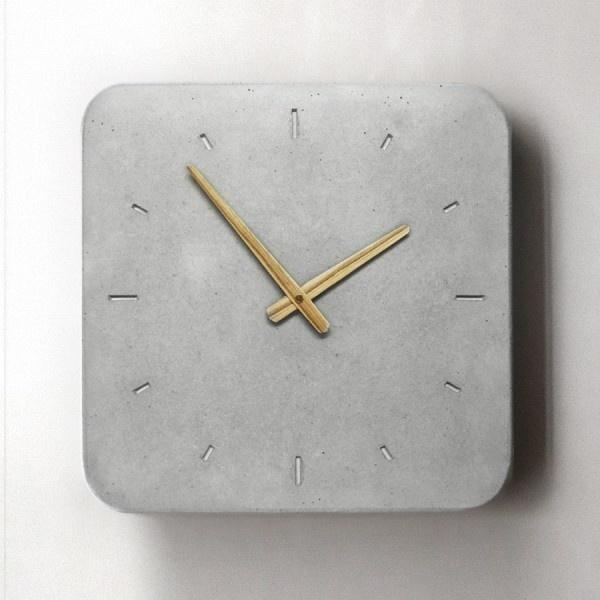 Concrete Wall Clock / design by WertWerke