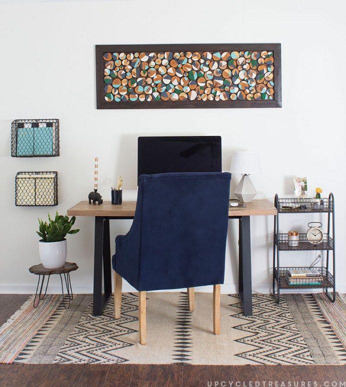Modern Rustic Office Retreat
