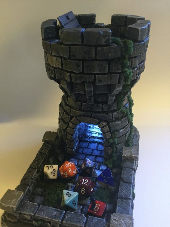 DnD Tabletop Dice Tower by DragonFishTreasures on Etsy