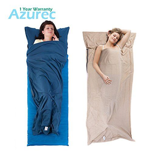 Azurec Lightweight Roomy Cotton Sleeping Bag Liner Travel Sheet Sleep Sack Comfortable for Camping Travel Hotel *** Visit the image link more details.