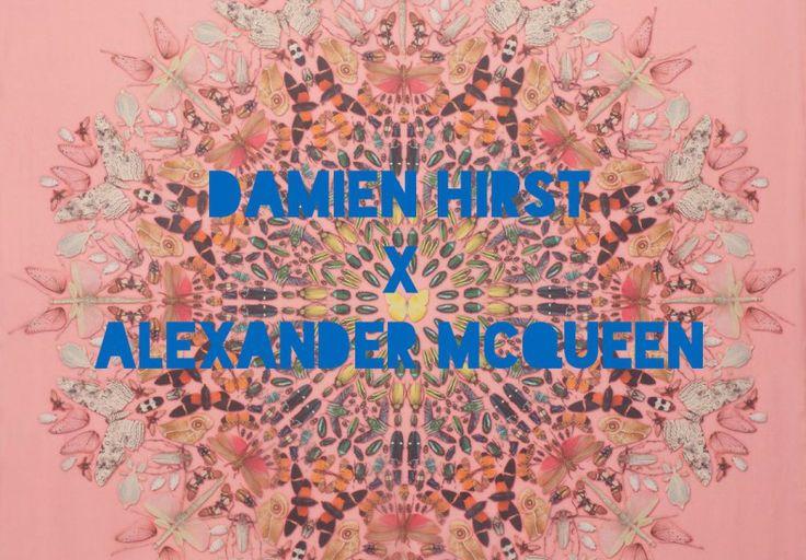 Damien Hirst x Alexander McQueen Limited edition scarves