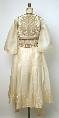 Turkish silk ensemble (ca. 1900), back view