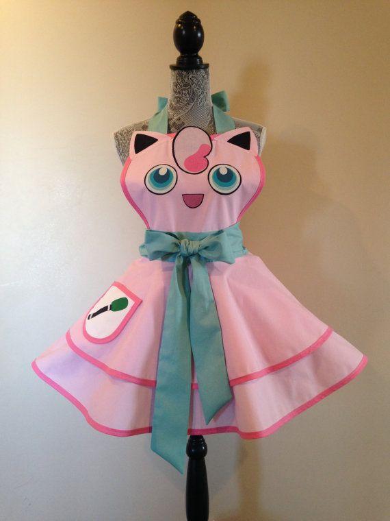 Jigglypuff - Jigglypuff Costume - Retro apron - Pokemon Costume - Aprons