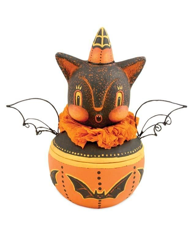 Howling Bat Candy Container - Johanna Parker from TheHolidayBarn.com