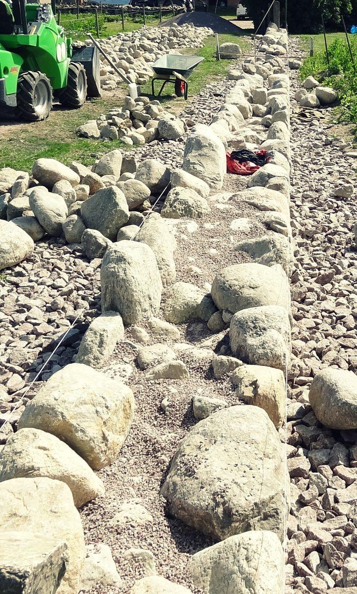 08`13 Stenmur, sten staket, gärdsgårdsmur / Dry Stone Wall, Stone fence