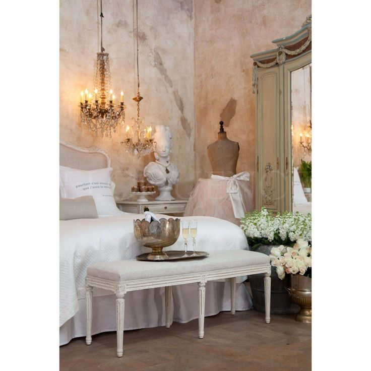 Eloquence® Boudoir Bench In Antique White