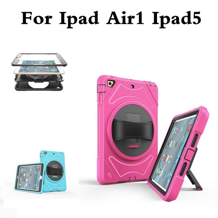 Premium Armor Stand Case for iPad Air 1 funda Capa Para Coque,Hybrid TPU+PC Back Cover for Apple iPad Air1 Hand Strap Case #Affiliate