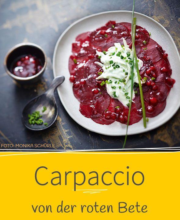 Einfach, aber edel: Unser Rezept für Rote-Bete-Carpaccio ist kinderleicht und beeindruckt trotzdem allemal. Geschmacklich und optisch!