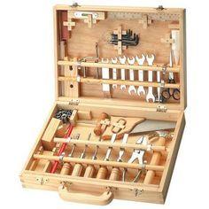 Imitation Garçon Boite à outils en bois 50 pièces
