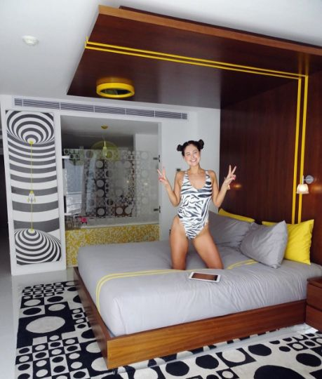 "Re-gram, cutie, @Lanajf, enjoying our yellow 'Piccadilly' studio.   ""Room party @Luna2Life #discodisco""  http://luna2.com/studio-rooms/studio/   #Luna2life #Luna2 #Luna2studiotel #Bali #Seminyak #hotel #yellow #Piccadilly #studio #breakfast #blog #blogger #travel #guest #regram #designhotels #experience #interiordesign by #MelanieHallDesign"