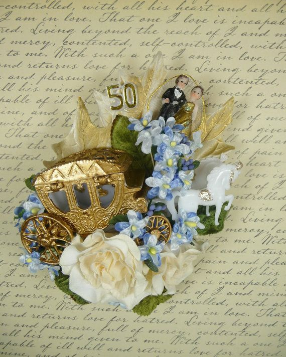 50th Anniversary Decoration Corsage Golden Journey by meaicp, $30.00
