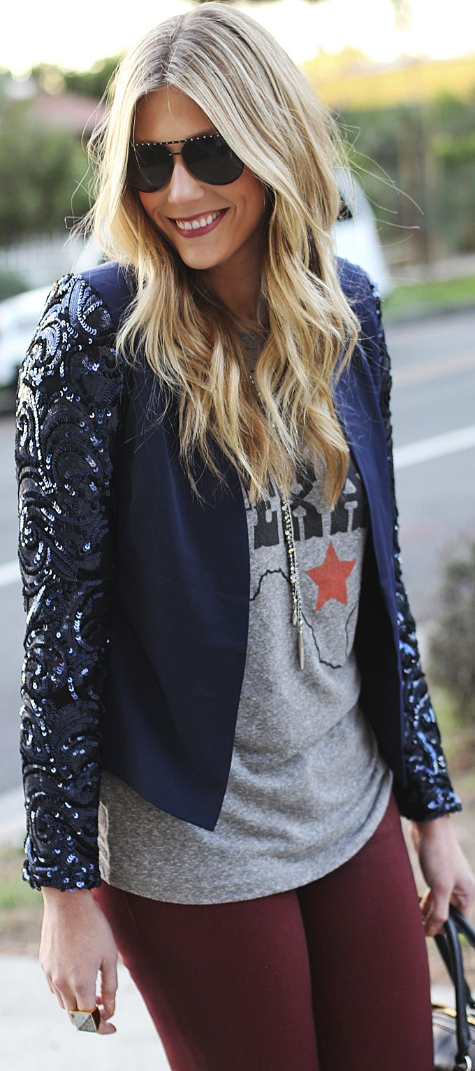 #Casual #Texan With #Sequins by Devon Rachel