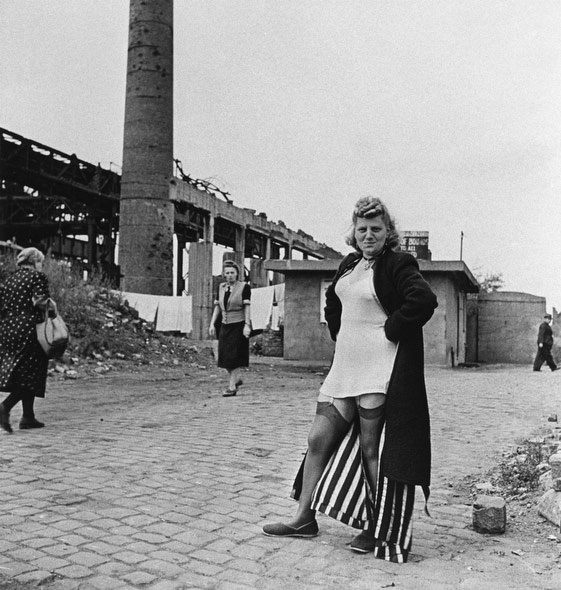 A prostitute near the Krupp Works in Essen, Germany, in 1947. (David