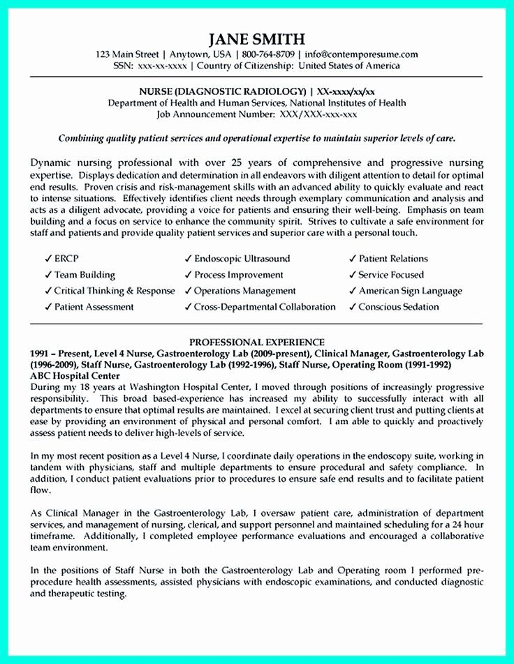 20 Critical Care Nurse Resume in 2020 Nursing resume