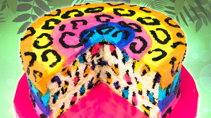 Rainbow Leopard Cake from Cookies Cupcakes and Cardio