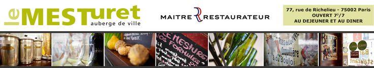 Menu du Restaurant le Mesturet Paris 75002