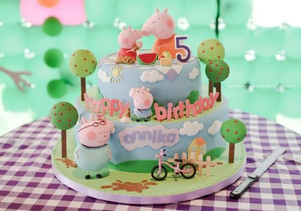 Una graciosa tarta para una fiesta Peppa Pig / A lovely cake for a Peppa Pig party