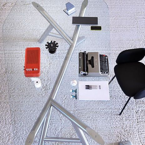 Otto table by paolo cappello . miniforms. http://www.malfattistore.it/?product=otto #table #design #glass #transparency