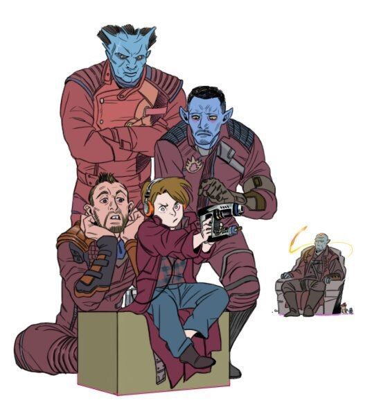 Yondu Udonta, Star Lord (Peter Quill), Kraglin Obfonteri || Guardians of the Galaxy