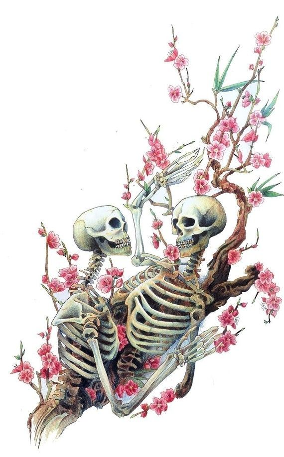 .: Tattoo Ideas, Cherries Blossoms, Skull, Awesome Tattoo, Art, Tattoo'S, A Tattoo, Bones Skeletons, Cherry Blossoms