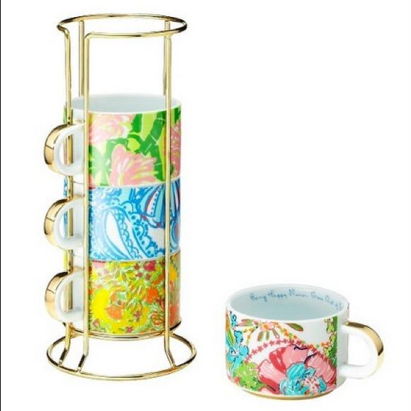 Lilly Pulitzer For Target Set Of 4 Mugs New New With Tags