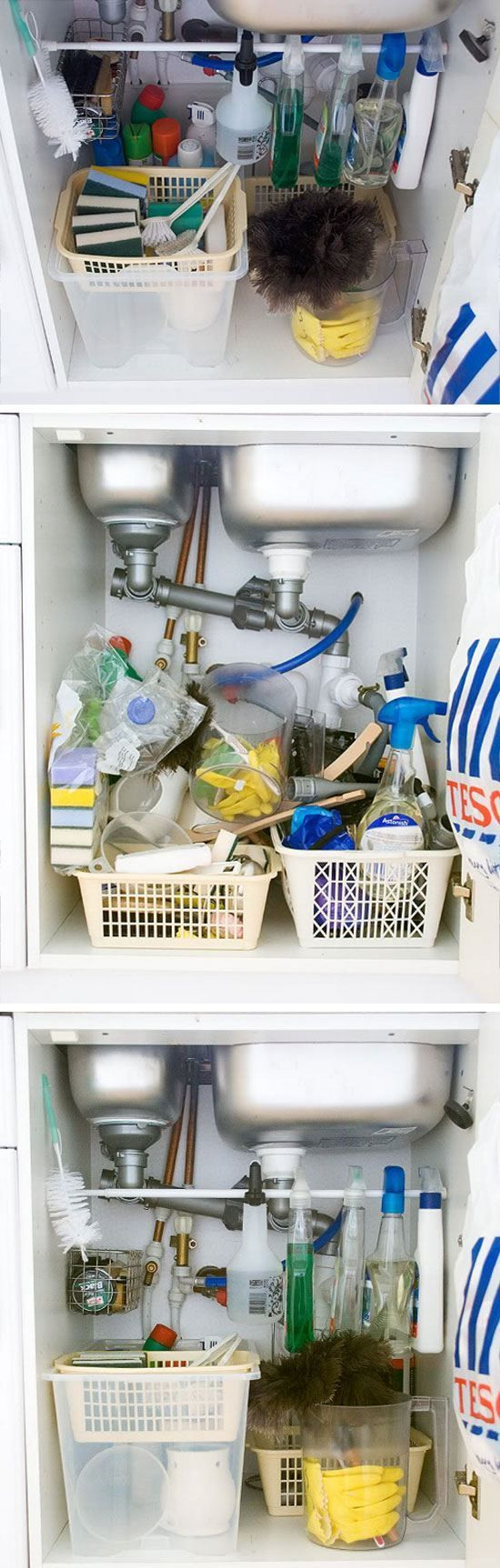 Under Sink Storage   Click Pic for 25 DIY Home Decor Ideas on a Budget   DIY Home Decorating on a Budget