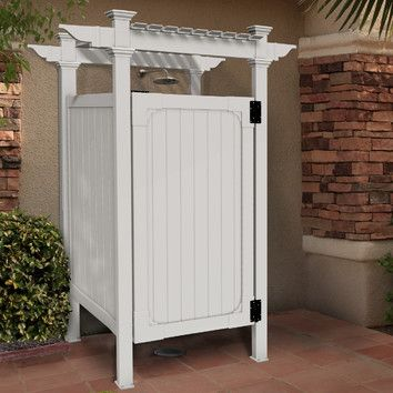 You'll love the Hampton Outdoor Shower Enclosure at Wayfair - Great Deals on all Outdoor  products with Free Shipping on most stuff, even the big stuff.