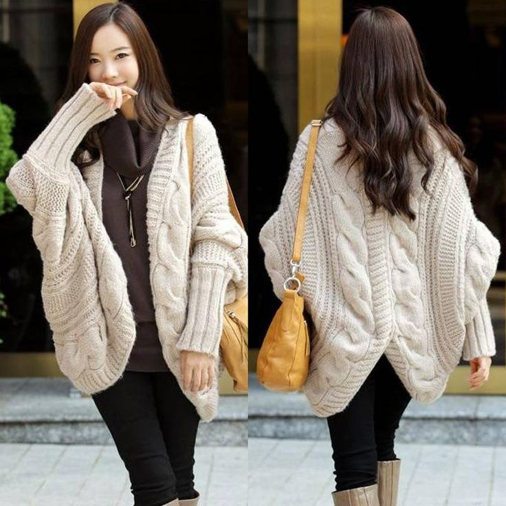 2017 2014 Fall And Winter Women Clothes Women Fashion Clothes Sale Bat Sleeve Cardigan Knitting Needle Shawl Ladies Thick Coat Sweater From Lin824468135, $20.86   Dhgate.Com
