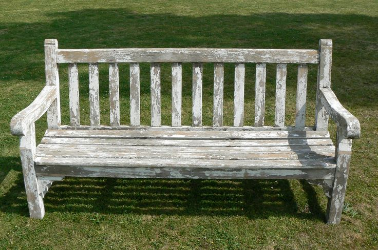 Old Wooden Garden Bench HOME OUTSIDE Pinterest