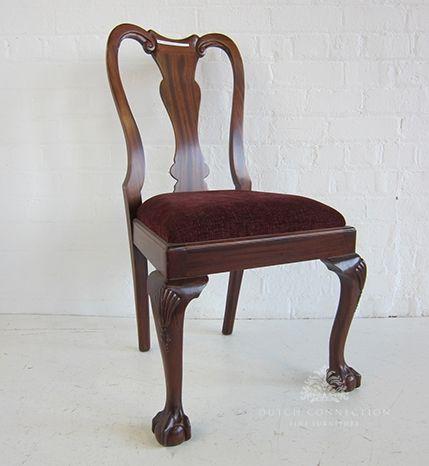 Queen Anne Dining Chair / Queen Anne Ball & Claw Dining Chair / Dutch Connection