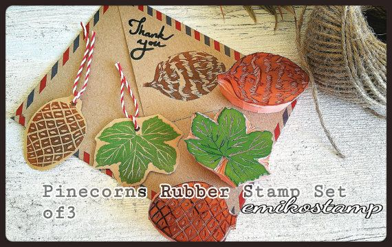 Check out this item in my Etsy shop https://www.etsy.com/listing/489425902/pine-cone-unmounted-rubber-stamp-set-of