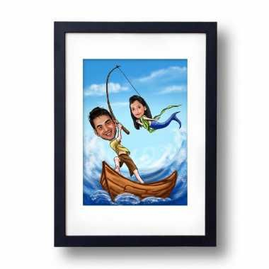 You are my Mermaid - Caricature Photo Frame