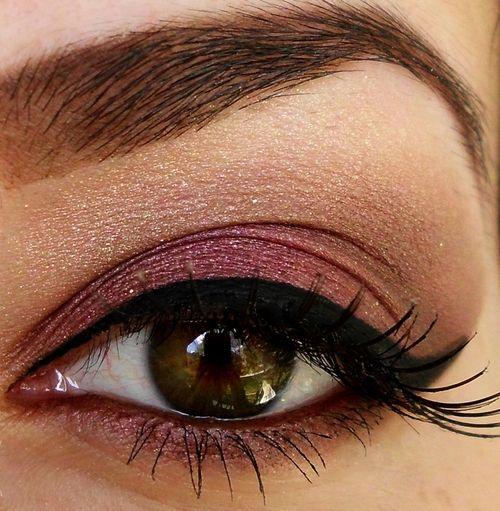 Rose colored makeup