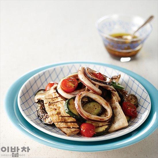 구운채소 해산물 샐러드 이미지 1