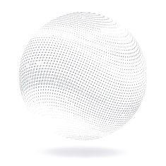 抽象的な球体 vector art illustration