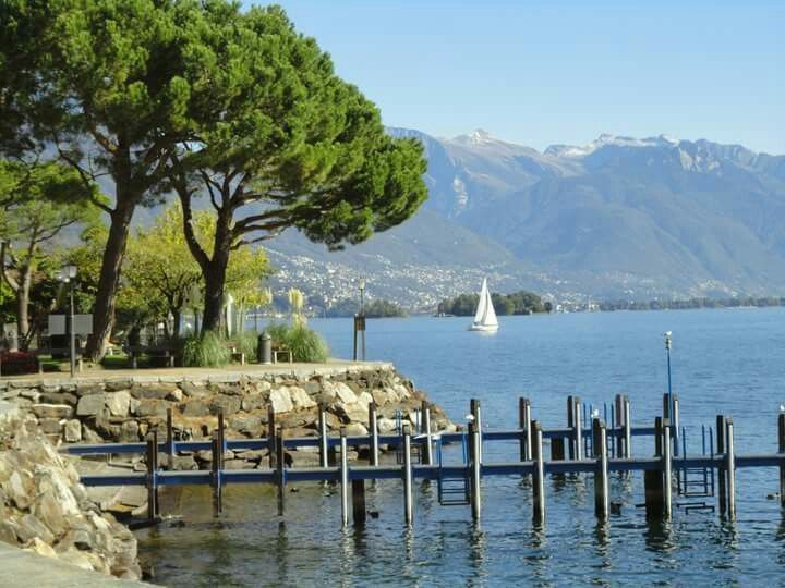 Brissago,  Ascona,  a beautiful small town in Switzerland