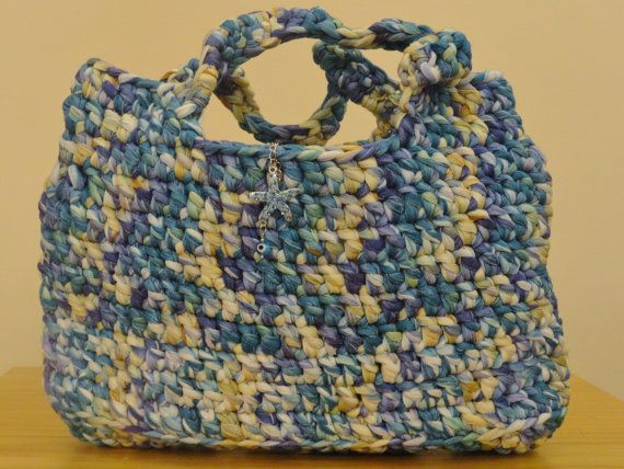 Multicolour noodle yarn bag with  rhinestone by personal2treasures