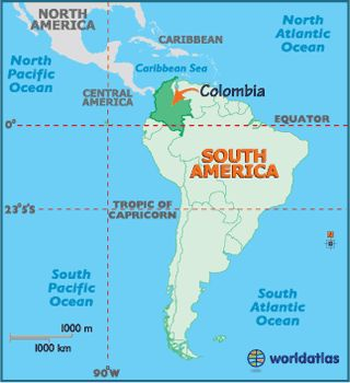 Map of Colombia, Colombia South America, Colombia Map, Mapa de Colombia - Worldatlas.com