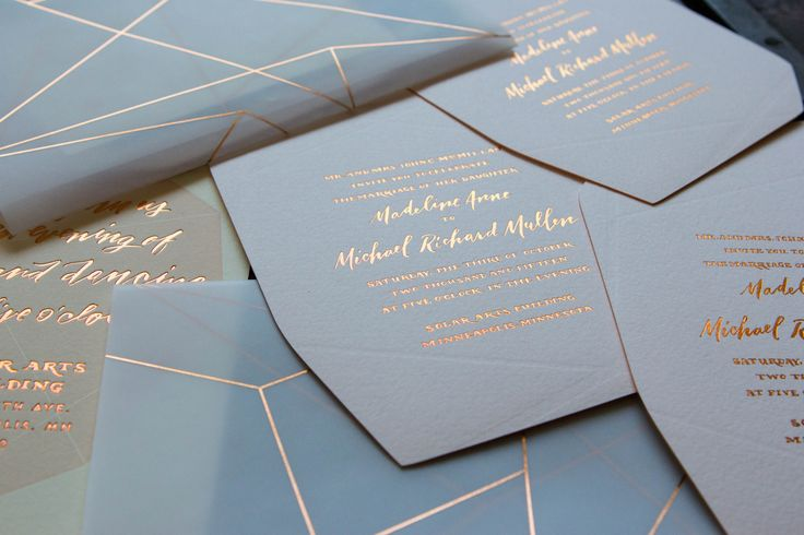 64 best winter holiday inspiration images on pinterest for Rose gold winter wedding invitations