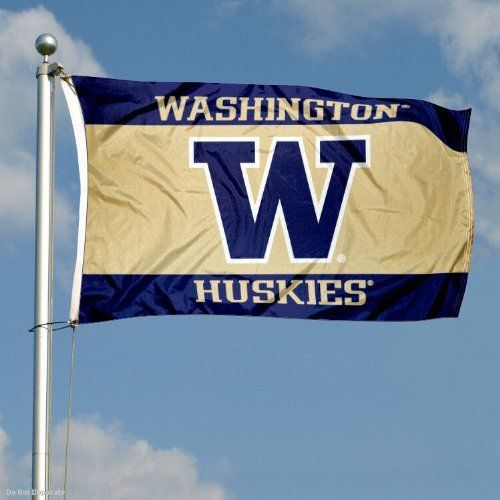 Washington Huskies Double-Sided 3x5 Flag by College Flags and Banners Co.. $49.95. Double-Sided and Printed Logos are Readable Correctly on Both Sides. Identical Flag as flown over the College Football Hall of Fame. Officially Licensed by University of Washington. 3-Ply Polyester Material with Sewn-In Liner between Sides. 3'x5' in Size with Sturdy Metal Grommets and Quad-Stitched Flyends. Our Washington Huskies Double-Sided 3x5 Flag is made of three-ply polyester and i...
