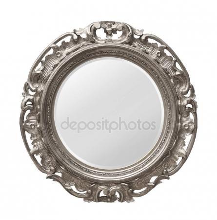 Скачать - Серебряный деревянное зеркало — стоковое изображение #150695954