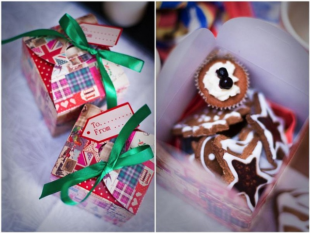 home made cookies in a gift box
