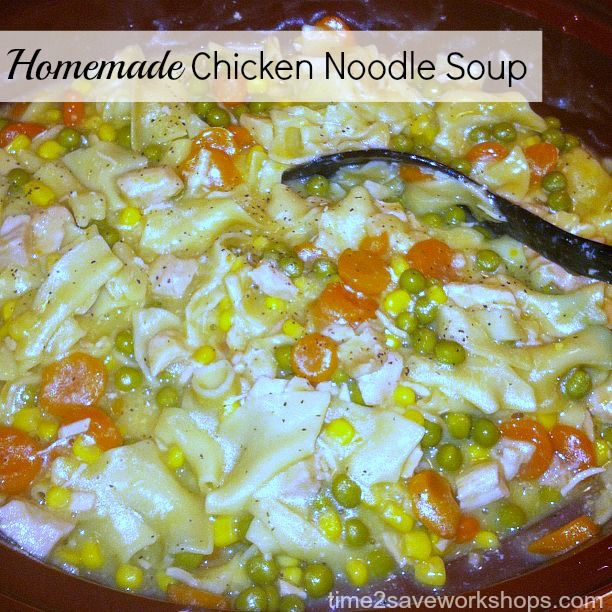 Pin by kelly jones on crockpot meals pinterest for Homemade chicken noodle soup recipe