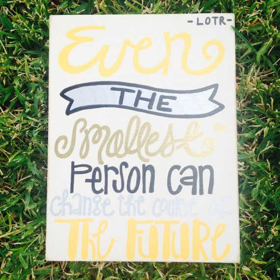Lord of the Rings Gandalf Quote Sign by LindseyLeighArtwork