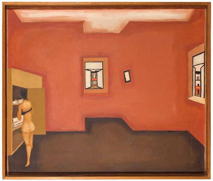 Jerzy Nowosielski <em>Wnętrze czerwone, </em>ok 1970