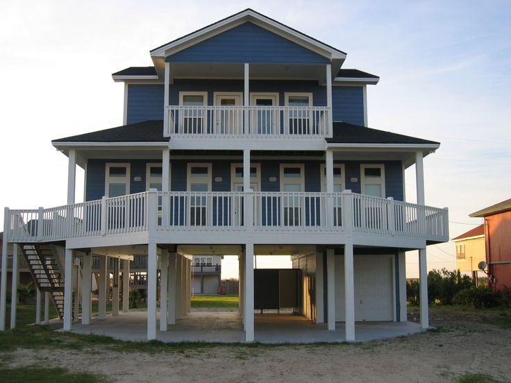 17 best images about texas beach houses on pinterest for Coastal home builders texas