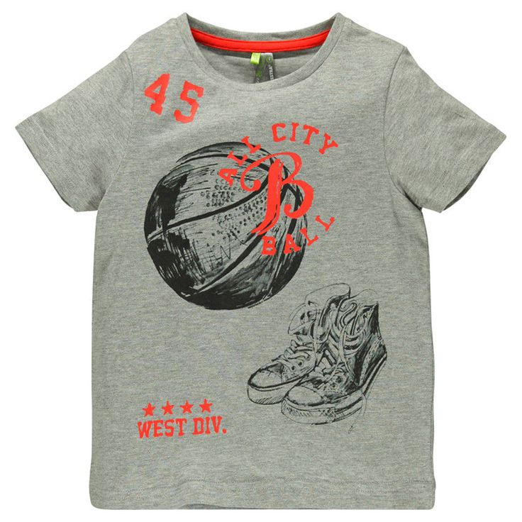 Tee-shirt manches courtes avec print fantaisie - Orchestra FR