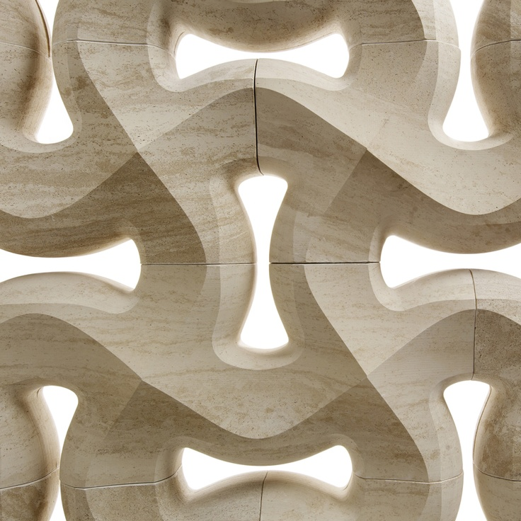 MODULAR NATURAL STONE DIVIDER ELEMENT TRACCIA BY LITHOS DESIGN | DESIGN RAFFAELLO GALIOTTO