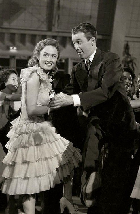 "The Charleston scene from ""It's a Wonderful Life"" starring Donna Reed and James Stewart."