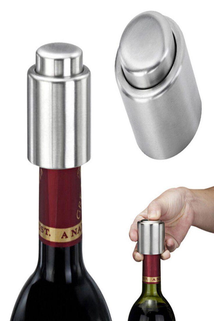 Stainless Steel Red Wine Vacuum Sealed Wine Storage Bottle Stopper Plug Cap